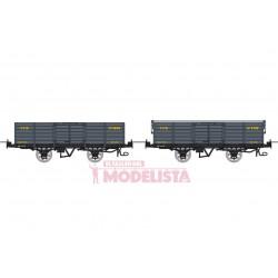 Set open wagons, Gv 5645 + 5792.