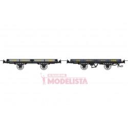 Set de vagones de bajos, H 6194 + Hv 6598.