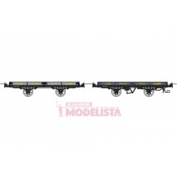 Set flat wagons, H 65194 + Hv 6598.