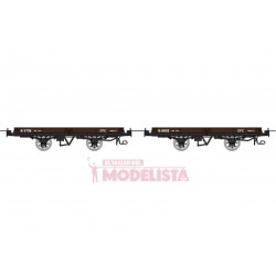 Set flat wagons, Hv 5736 + 6602.