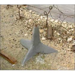 Obstáculos antitanque: Tetrapodos. PN SUD MODELISME 7237