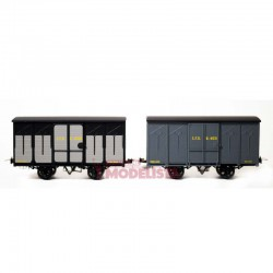 Set closed wagons, Kv 4631 + 4088.