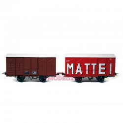 Set closed wagons, Kv 4622 + 4614.