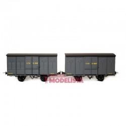 Set closed wagons, Kv 4091 + 4627.