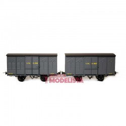 Set de vagones cubiertos, Kv 4091 + 4627.