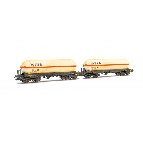 2-unit set of tank wagons Zags, IVEXA. Weathered.