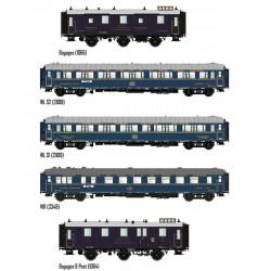 """Composición de pasajeros """"Train Bleu"""", CIWL."""