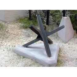 Obstáculos antitanque: Erizos checos. PN SUD MODELISME 3531