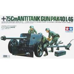 Cañón antitanque alemán PAK40 de 75mm. TAMIYA 35047