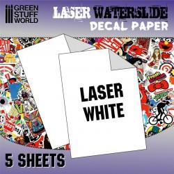 Laser/copier water-slide decal clear paper.