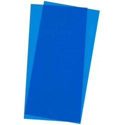 Hojas de estireno transparente rojo. 0,25 mm.