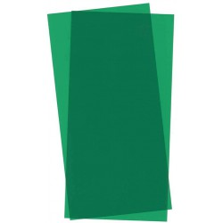 Blue transparent polystyrene sheet. 0,25 mm.