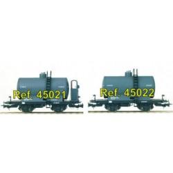 "Vagón cisterna 2 ejes ""RENFE"" con garita. IBERTREN 45021"