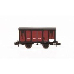 Vagón cerrado NORTE color rojo. IBERTREN 55031