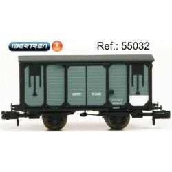 Vagón cerrado NORTE color gris. IBERTREN 55032