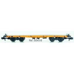 Bogie flat wagon of M. de Corral. IBERTREN 55043B