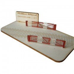 Level crossing barriers, old version.