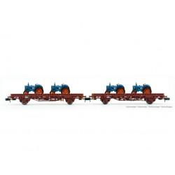 Set de plataformas Ks con tractores, RENFE.
