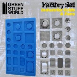 Silicone Molds - Grids and Fans.