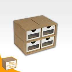 Drawers Module (x4. Short Square format.