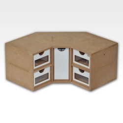Corner drawers module.