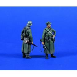 German infantry in coats.
