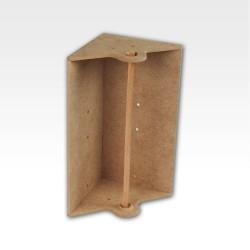 Corner paper towel module.