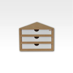 Ending corner drawers module.
