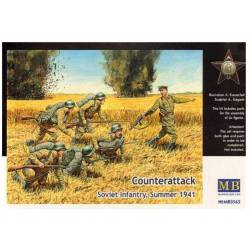 Counterattack.Soviet Infantry, Summer 1941. MASTER BOX 3563