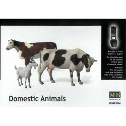 Domestic animals.