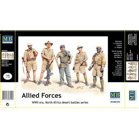 Allied Forces, WW II era, North Africa, desert battles. MASTER B