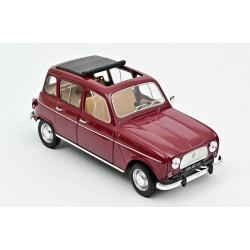 Renault 4L, 1966. Rojo oscuro.
