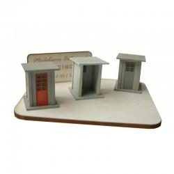 Casetas para guardagujas (x3).
