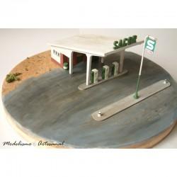 Sacor fuel station, 60s.