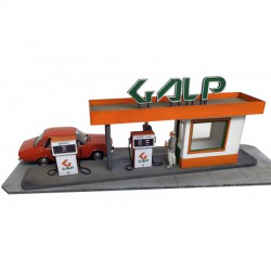 Gasolinera Galp, años 80.