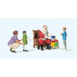 Father Christmas with kids.