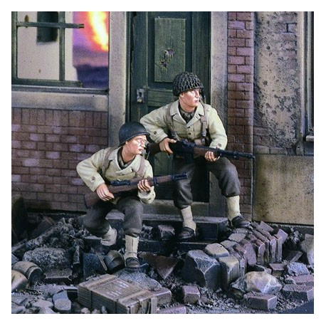 GI's on the Move Europe WWII. VERLINDEN 2452