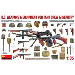 US weapons and equipment for tank crew and infantry.
