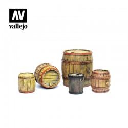 Barriles de madera.