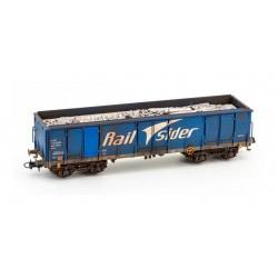 Vagón Ealos con chatarra, RailSider. Envejecido.