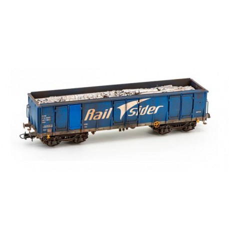 Wagon type Ealos with scrap, RailSider. Weathered.