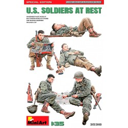 US soldiers at rest.