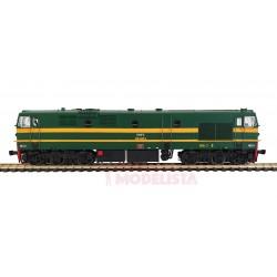 Diesel locomotive 319-095-6, RENFE. Sound.
