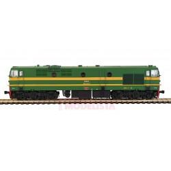 Locomotora diésel 319-025-3, RENFE. Sonido.