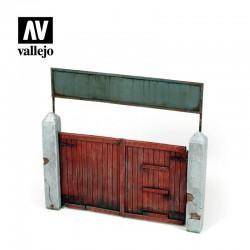 Portón de madera.