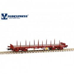Vagón CP Sgs, sin carga.