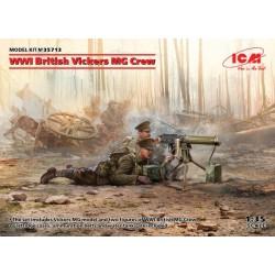 Ametralladora Vickers MG con dotación de soldados ingleses.