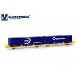 Container carrier wagon Omfesa/Transfesa, TRANSFESA.