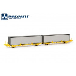 Container carrier wagon, TRANSFESA.