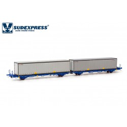 Container carrier wagon Cimar, COMSA.